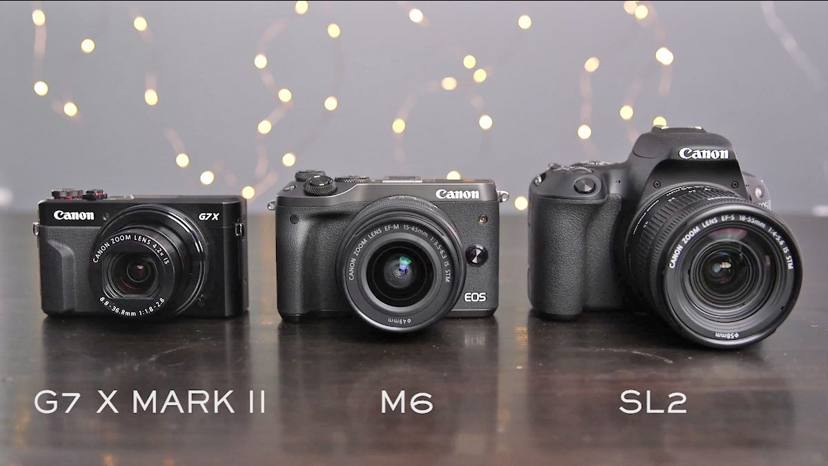 Camera Showdown: Canon M6 vs G7 X Mark II vs SL2
